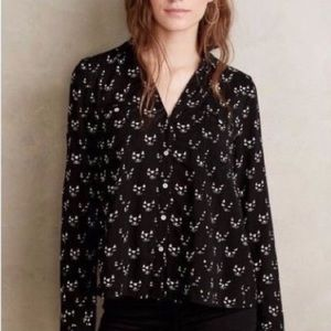 Anthropologie Maeve Cat Blouse Size 0